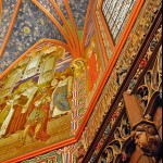 Cathedral of the Madeleine, detail of Ambry top, and east mural