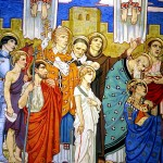Cathedral of the Madeleine, mural of saints 5